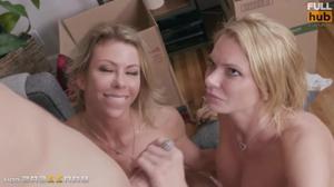 Взрослые лесбиянки раскрутили соседского парня на секс - скриншот #21