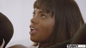 Худая негритянка дает в жопу европейцу - скриншот #19