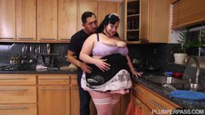 Жирная горничная трахается с хозяином - скриншот #4