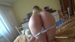 Домашний трах блондинки с сиськами - скриншот #5